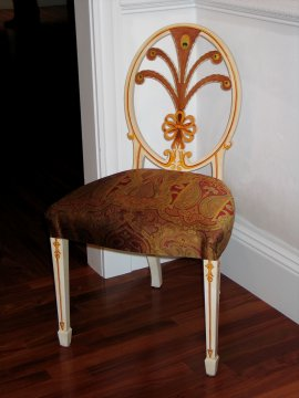 Paint-decorated Federal chairs